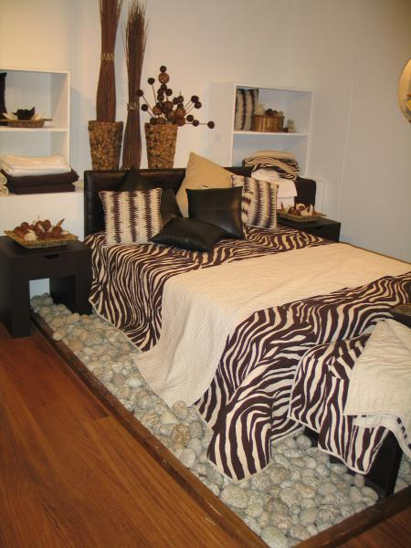 Contrasting pintucks work well with this zebra print