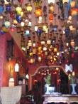 A tea shop goes wild for lights in Istanbul, Turkey