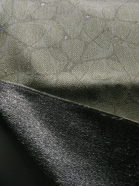 Upholstery fabric made with polyester, cotton, acrylic aluminium (for warmth transmission)